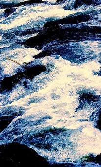 Abstrakt, Fotografie, Wasser, Blau
