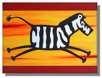 Pop art, Tiere, Zebra, Figural