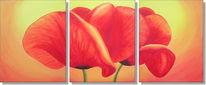 Malerei, Mohn, Blumen, Flora
