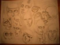 Zeichnung, Portrait, Zeichnungen, Kopf