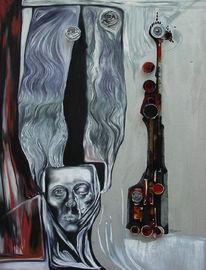 Einblick, Malerei, Maske,