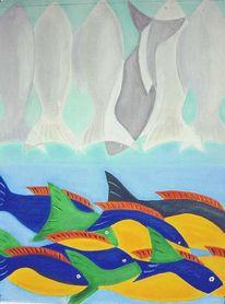 Fische, Figural, Malerei