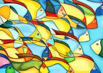 Fisch, Malerei, Figural, Natur