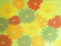 Malerei, Pflanzen, Blumenwiese