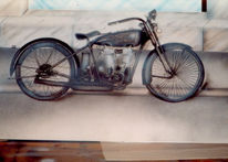 Grafik, Motorrad, Malerei