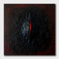Gips, Rot schwarz, Flammen, Abstrakt