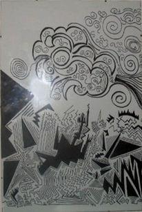 Malerei, Abstrakt, Himmel, Hölle