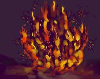 Digital, Digitale kunst, Feuer,