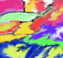 Digital, Abstrakt, Digitale kunst, Chaos