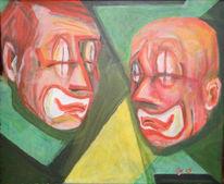 Motivieren, Malerei, Rot, Grün