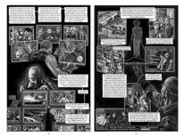 Comic, Cyberpunk, Chronik, Schwarzweiß