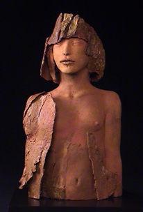 Ton, Figural, Plastik, Skulptur