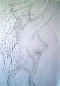 Zeichnung, Weiblich, Akt, Zeichnungen