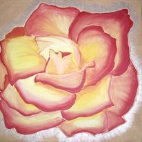 Stillleben, Feuer, Rose, Malerei