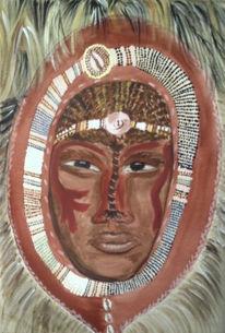 Figural, Massai, Malerei, Krieger