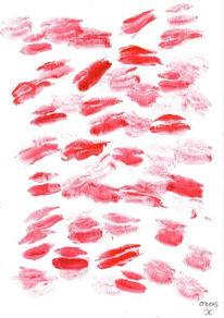 Zärtlichkeit, Malerei, Kuss, Liebe