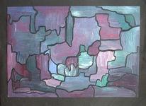 Malerei, Blau, Abstrakt, Puzzle