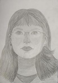 Bleistiftzeichnung, Selbstportrait, Portrait, Zeichnung