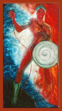 Malerei, Figural, Göttin, Weisheit
