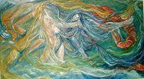 Elemente, Malerei, Figural, Luft