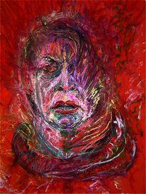 Portrait, Wahnsinn, Krankheit, Zeichnung