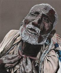 Malerei, Figural, Menschen, Alter
