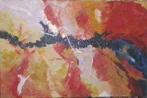 Abstrakt, Malerei, Geburt, Elemente