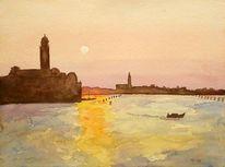 Landschaft, Malerei, Venezia