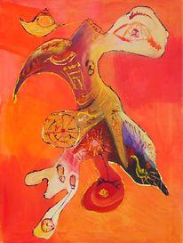 Abstrakt, Malerei, Wahnsinn