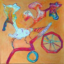 Abstrakt, Malerei, Wilde, Fahrt