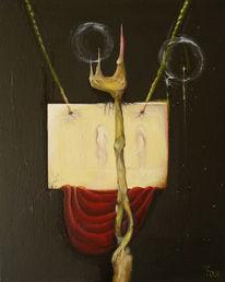 Surreal, Malerei, Ölmalerei, Frage
