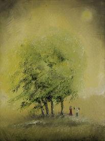 Sommer, Baum, Weintrauben, Wald