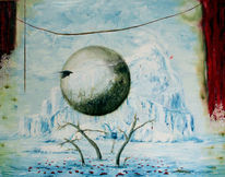 Eisberg, Ölmalerei, Umwelt, Surreal