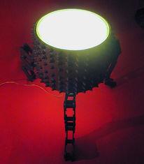 Kette, Lichtobjekt, Sägewerk, Skulptur