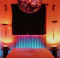 Licht, Glas, Bett, Kupferbeschichtet