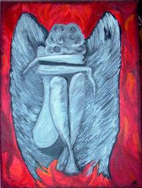 Engel, Ölmalerei, Figural, Malerei