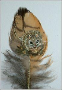 Maus, Feder, Malerei, Tiere