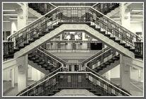 Innenarchitektur, Schwarz weiß, Architektur, Treppe