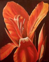 Blumen, Canna, Acrylmalerei, Malerei