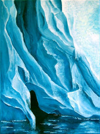 Malerei, Landschaft, Struktur, Acrylmalerei