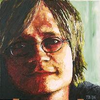 Figural, Portrait, Acrylmalerei, Spachteltechnik