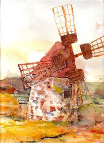Spanien, Landschaft, Urlaub, Mühle