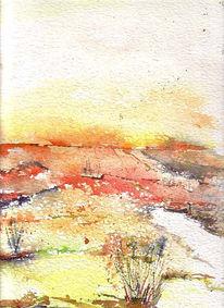 Landschaft, Fuchs, Dekoration, Malerei