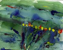 Malerei, Licht, Abstrakt, Grün