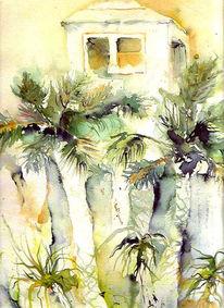 Landschaft, Urlaub, Tunesien, Palmen