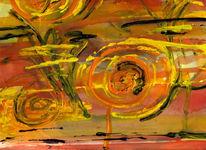 Abstrakt, Schnecke, Malerei, Aquarellmalerei
