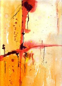 Abstrakt, Orange, Malerei, Kreuz