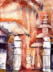 Landschaft, Malerei, Bali