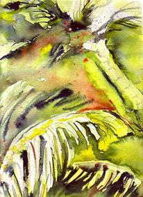 Malerei, Landschaft, Palmen, Urwald