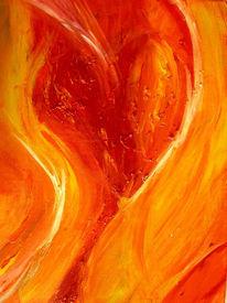 Herz, Abstrakt, Acrylmalerei, Malerei